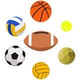 Sport-Ball-Gegenstand-Sammlungs-Satz Lizenzfreies Stockfoto