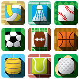 Sport and ball icon design set Royalty Free Stock Image