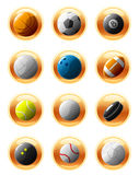 Sport ball icons Royalty Free Stock Photos
