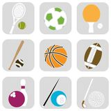 Sport ball icons Royalty Free Stock Images