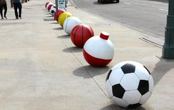 Sport Balls of Major Sports Stock Images