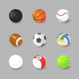 Sport ball icons Stock Image