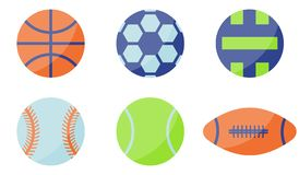 Sport-Ball-Ikone Flache Art lizenzfreie abbildung