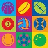 Sport Ball Pop Art Stock Images