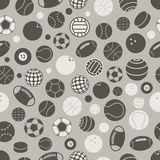 Sport ball silhouettes. Seamless pattern Royalty Free Stock Image