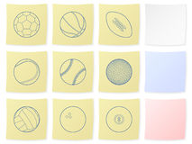 Sport ball sticker Royalty Free Stock Photos