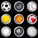 Sport Balls. Vector collection of sport balls Royalty Free Stock Photography