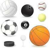 Sport balls royalty free stock photography