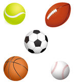 Sport balls Stock Photography