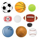 Sport balls. Vector sport balls isolated on white background Royalty Free Stock Photo
