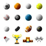 Sport Balls And Objects Icon Set Stock Images