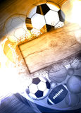 Sport balls background Royalty Free Stock Images