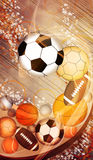 Sport balls background Royalty Free Stock Photography
