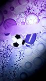 Sport balls background Stock Image