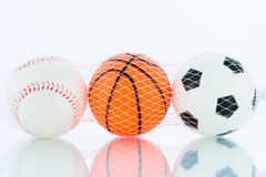 Sport balls, Baseball, football, basketball Stock Images