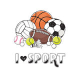 Sport balls collection Stock Image