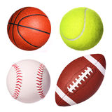 Sport balls collection isolated royalty free stock image