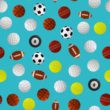 Sport Balls for Different Games Background Pattern. Vector Stock Photography