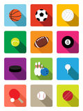 Sport balls flat icons Stock Images