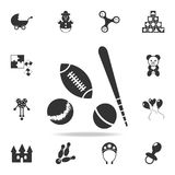 Sport balls icon. Detailed set of baby toys icons. Premium quality graphic design. One of the collection icons for websites, web d royalty free illustration