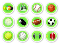 Sport balls icon set Royalty Free Stock Photos