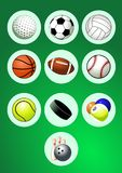 Sport Balls Icon Set Royalty Free Stock Photo
