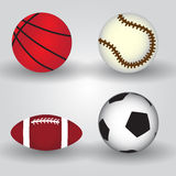 Sport balls icon set eps10 Royalty Free Stock Images
