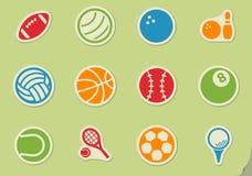 sport balls icon set Stock Images