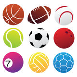 Sport Balls Icon Set. Simplified Sport Balls Icon Set isolated on white Royalty Free Stock Photography