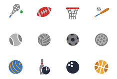 Sport balls icon set Royalty Free Stock Images