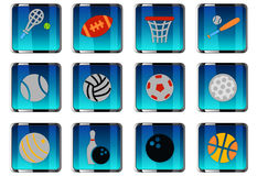 Sport balls icon set. Sport balls web icons for user interface design Royalty Free Stock Image