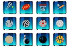 Sport balls icon set Royalty Free Stock Image