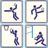 Sport balls icons. football, basketball, volleyball. vector illustration. Sport balls icons. football, basketball volleyball vector Vector Illustration