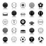 Sport balls icons pack Royalty Free Stock Photography