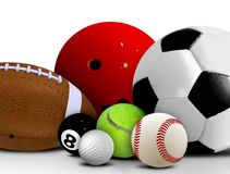 Sport Balls. Image of Sport Balls over White Royalty Free Stock Image