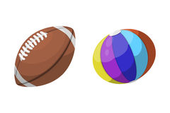 Sport balls isolated tournament win round basket soccer equipment and recreation leather group traditional different Stock Images