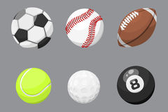 Sport balls isolated tournament win round basket soccer equipment and recreation leather group traditional different Royalty Free Stock Image