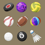 Sport balls isolated tournament win round basket soccer equipment and recreation leather group traditional different Stock Photo