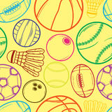 Sport balls pattern - #2 Stock Photography
