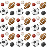 Sport Balls Seamless Pattern [1] Royalty Free Stock Photos