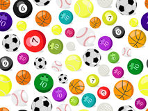 Sport balls seamless pattern Royalty Free Stock Images