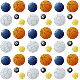 Sport Balls Seamless Pattern [2] Royalty Free Stock Image