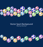Sport Balls Seamless Pattern Royalty Free Stock Photography