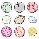 Sport Balls. Set of sport ball icons Royalty Free Stock Photo