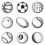Sport balls set Royalty Free Stock Images