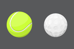 Sport balls  tournament win round golf equipment and recreation tennis group traditional different design vector Royalty Free Stock Image
