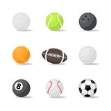 Sport balls Stock Images