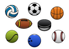Sport balls vector  icons set Royalty Free Stock Image