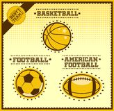 Sport balls vector set Royalty Free Stock Photos