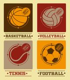 Sport balls vector set Stock Photos